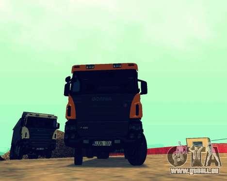 Scania P420 8X4 Dump Truck pour GTA San Andreas vue arrière