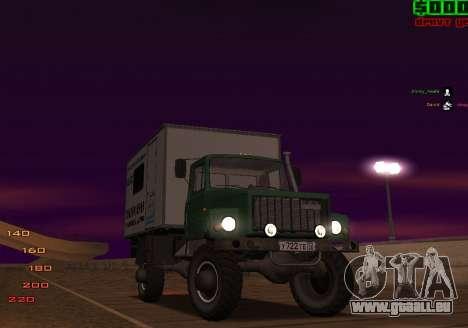 Avtolaboratoriâ GAZ 3309 Sadko pour GTA San Andreas vue de dessus
