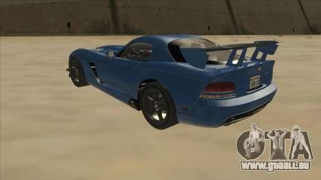 Dodge Viper SRT-10 ACR TT Black Revel pour GTA San Andreas vue arrière