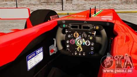 Ferrari F138 2013 v6 für GTA 4 Innenansicht