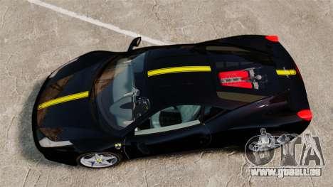 Ferrari 458 Italia 2010 Wheelsandmore 2013 pour GTA 4 est une vue de l'intérieur