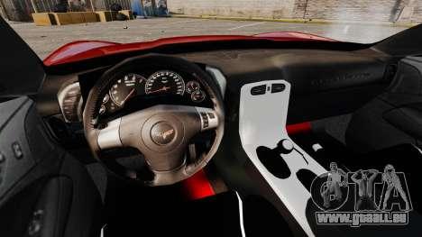 Chevrolet Corvette Z06 für GTA 4 Rückansicht