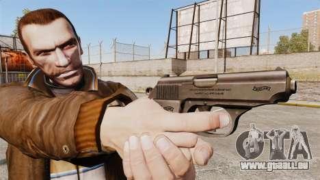 Walther PPK Ladewagen Pistol v2 für GTA 4 dritte Screenshot