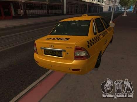 LADA Priora 2170 Taxi für GTA San Andreas rechten Ansicht