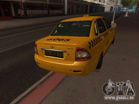 LADA Priora 2170 Taxi pour GTA San Andreas vue de droite