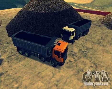 Scania P420 8X4 Dump Truck pour GTA San Andreas vue de dessous