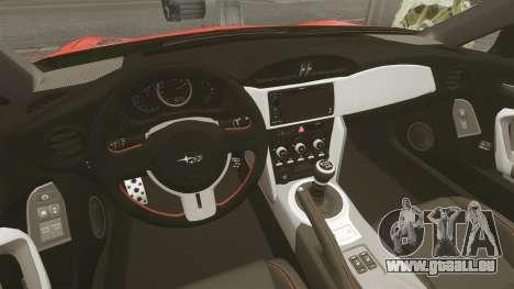 Subaru BRZ Rocket Bunny Aero Kit Hoonigan pour GTA 4 est une vue de l'intérieur