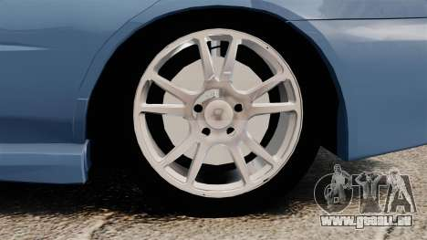 Subaru Impreza WRX 2001 pour GTA 4 Vue arrière