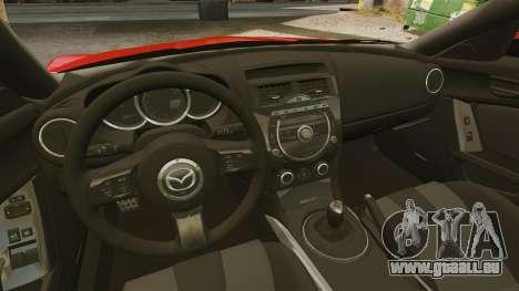 Mazda RX-8 R3 2011 pour GTA 4 est une vue de l'intérieur