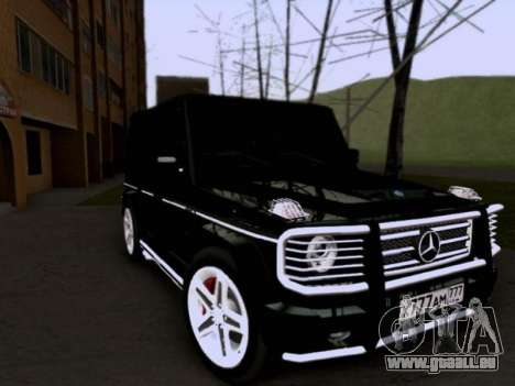 Mercedes-Benz G55 AMG pour GTA San Andreas vue de droite