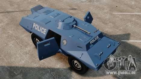 S.W.A.T. Police Van pour GTA 4 Vue arrière
