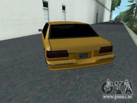 Premier pour GTA San Andreas sur la vue arrière gauche