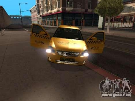 LADA Priora 2170 Taxi pour GTA San Andreas laissé vue