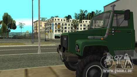 Avtolaboratoriâ GAZ 3309 Sadko pour GTA San Andreas vue arrière