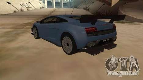 Lamborghini Gallardo LP560-4 Tuned pour GTA San Andreas sur la vue arrière gauche