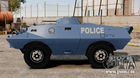 S.W.A.T. Police Van pour GTA 4 est une gauche