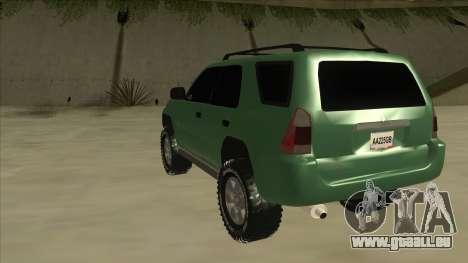 Toyota 4Runner 2009 v2 pour GTA San Andreas vue arrière