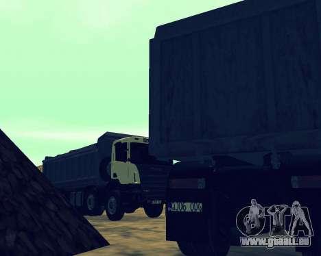 Scania P420 8X4 Dump Truck pour GTA San Andreas moteur