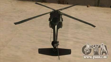 Sikorsky UH-60L Black Hawk Mexican Air Force für GTA San Andreas Innenansicht