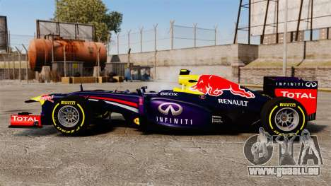 Voiture, Red Bull RB9 v5 pour GTA 4 est une gauche