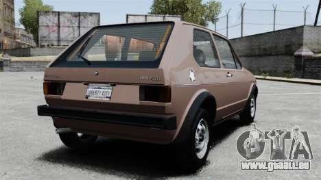 Volkswagen Golf MK1 GTI für GTA 4 hinten links Ansicht