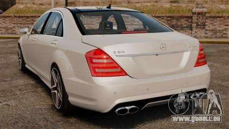 Mercedes-Benz S65 W221 AMG Stock v1.2 pour GTA 4 Vue arrière de la gauche