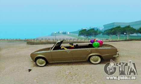 VAZ 2101 Cabrio für GTA San Andreas zurück linke Ansicht