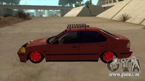 Honda Civic V2 BKModifiye pour GTA San Andreas sur la vue arrière gauche