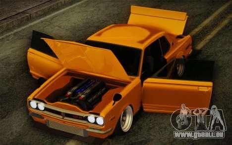 Nissan Skyline 2000GT-R Hoon für GTA San Andreas Innenansicht