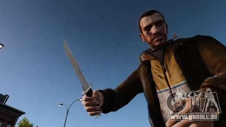 Couteau l'Alabama Slammer, chromé pour GTA 4 troisième écran