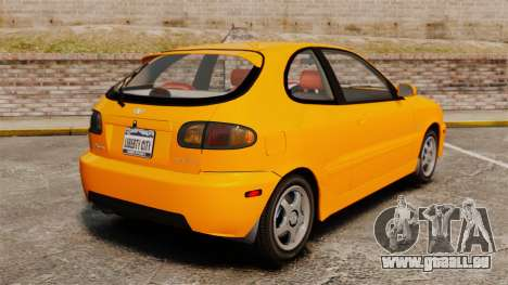 Daewoo Lanos Sport US 2001 pour GTA 4 Vue arrière de la gauche