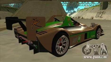 Radical SR8 RX pour GTA San Andreas vue de droite