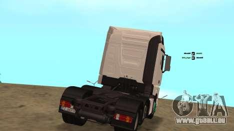 Mercedes-Benz Actros pour GTA San Andreas sur la vue arrière gauche