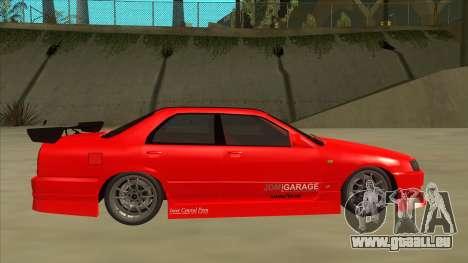 Nissan Skyline ER34 JDMGarage pour GTA San Andreas sur la vue arrière gauche