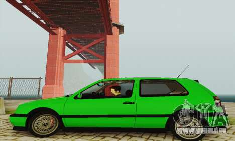 Volkswagen Golf Mk3 GTi 1997 pour GTA San Andreas sur la vue arrière gauche