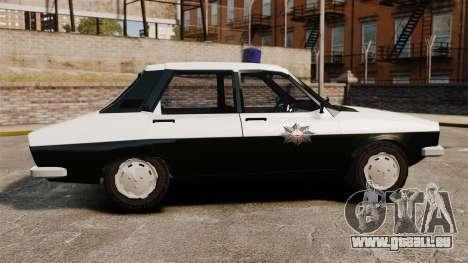 Renault 12 Classic 1980 Turkish Police pour GTA 4 est une gauche