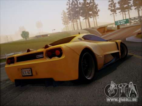 Joss JP1 2010 Supercar V1.0 pour GTA San Andreas vue arrière