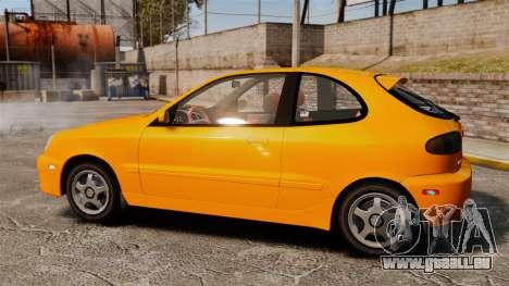 Daewoo Lanos Sport US 2001 pour GTA 4 est une gauche