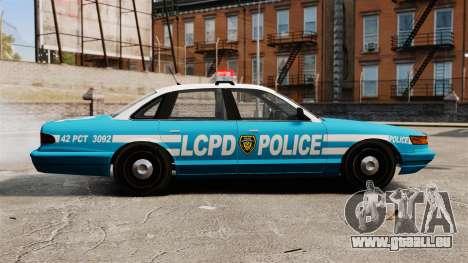 LCPD Police Cruiser pour GTA 4 est une gauche