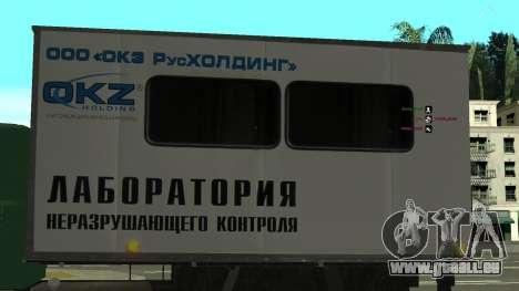 Avtolaboratoriâ GAZ 3309 Sadko pour GTA San Andreas vue de côté