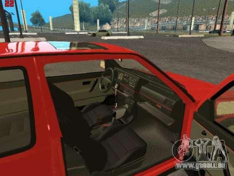 Volkswagen Golf Mk2 für GTA San Andreas Rückansicht