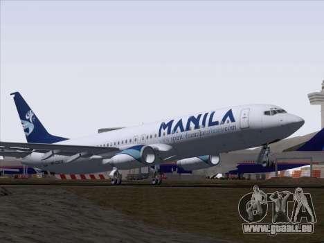 Boeing 737-800 Spirit of Manila Airlines pour GTA San Andreas vue de côté