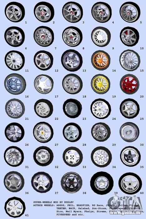 Super Wheel Mods v2 für GTA Vice City