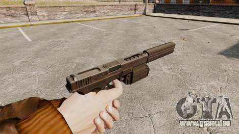 Taktische Pistole Glock 18 v2 für GTA 4 Sekunden Bildschirm