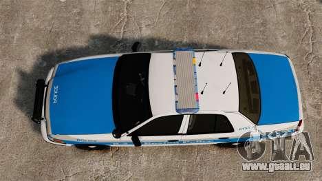 Ford Crown Victoria Police Massachusetts ELS pour GTA 4 est un droit