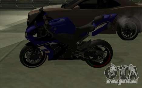 Yamaha R1 pour GTA San Andreas laissé vue