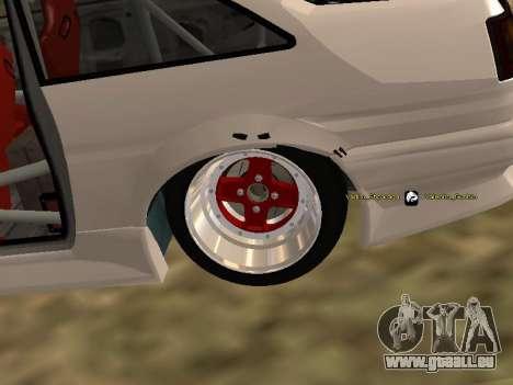 Toyota Corrola GTS JDM für GTA San Andreas Rückansicht