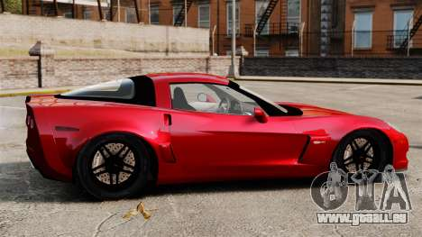 Chevrolet Corvette Z06 pour GTA 4 est une gauche