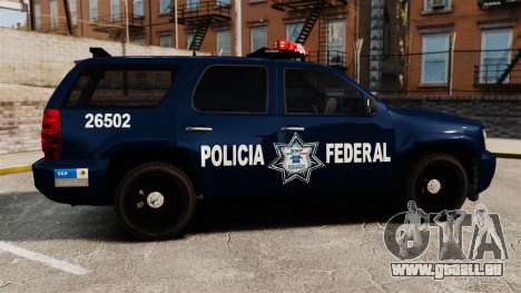 Chevrolet Tahoe 2007 De La Policia Federal [ELS] für GTA 4 linke Ansicht