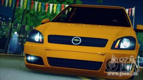Chevrolet Celta für GTA San Andreas Rückansicht